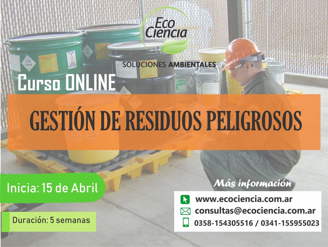 Curso Online Gestion De Residuos Peligrosos Ecociencia